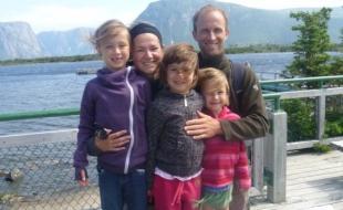 La famille Leblanc. (Photo gracieuseté de Robin LeBlanc.)